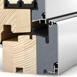 MEX Internorm détail coupe bois / aluminium-performance thermique