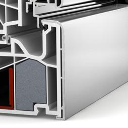 MEX Internorm détail coupe pvc / aluminium