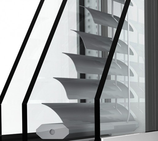 MEX Internorm détail coupe store vénitien - fenêtre finistère